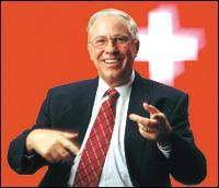 Blocher , ministro suizo del referendum NO más inmigrantes