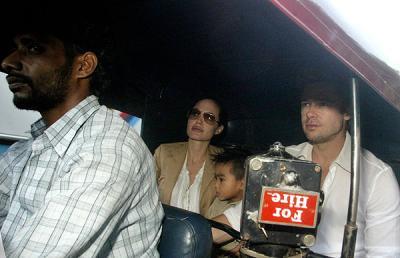 Angelina Jolie con su hijo adoptivo