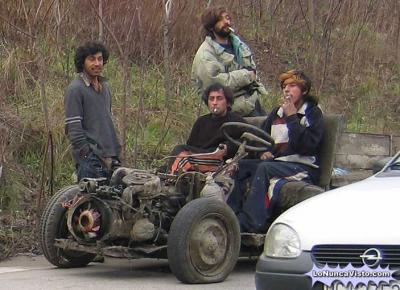 Gitanos en carromato