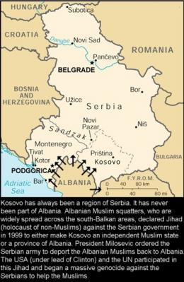 Serbia, mapa