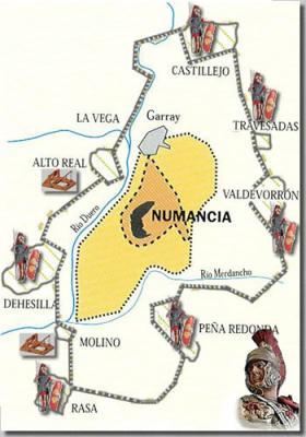 Numancia, mapa